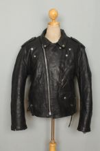 Vtg SCHOTT PERFECTO 125 Leather Motorcycle Fleece Liner Jacket Size 48